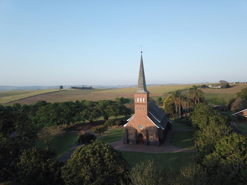 Christusgemeinde Kirchdorf - Kirchgelände Luftfotos